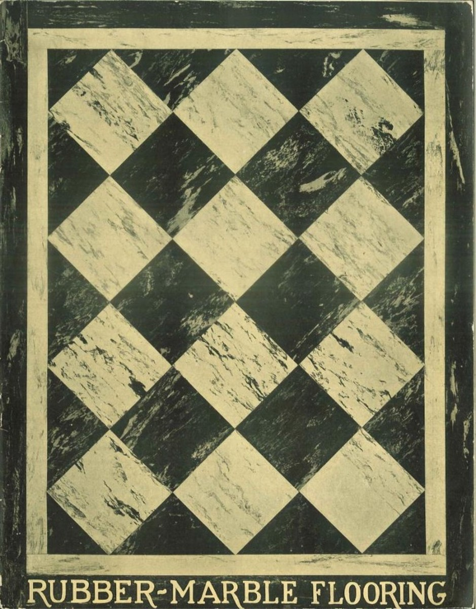 Rubber-marble flooring, 1926
