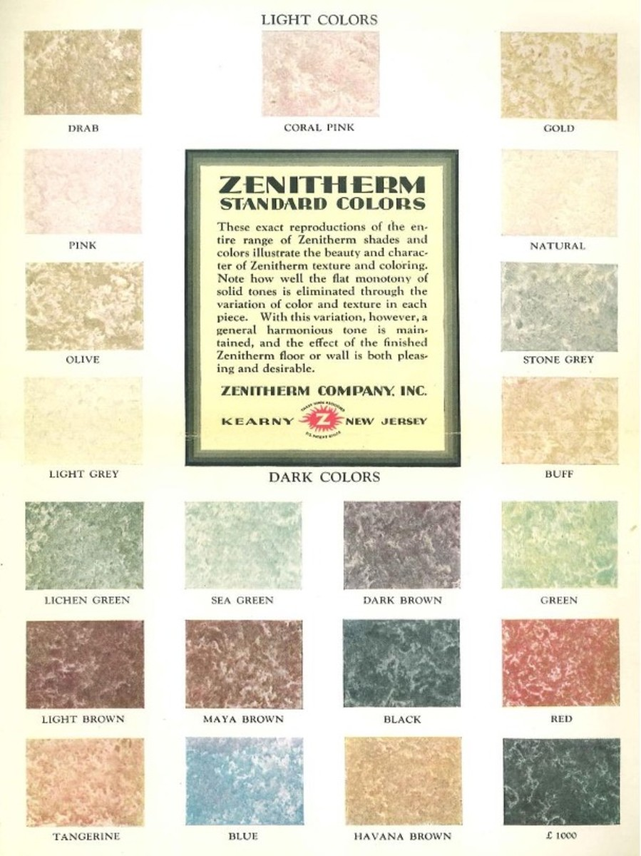 Zenitherm for walls and floors, 1930