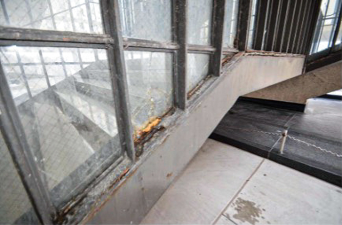 window deterioration