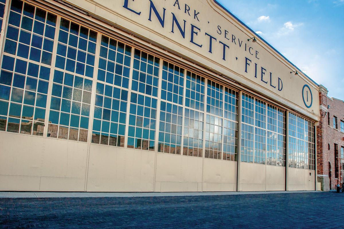 Bennett Field, metal windows