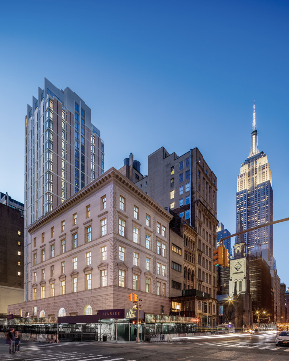 The Fifth Avenue Hotel, designed by PBDW and Perkins Eastman, McKim, Mead & White