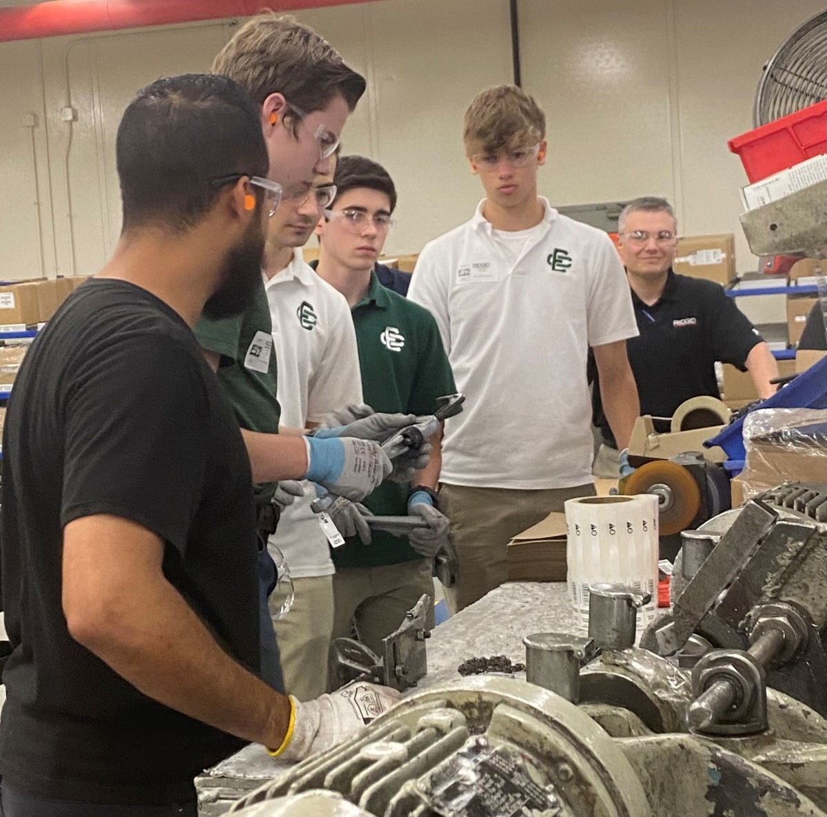 Students gain insight into career opportunities offered at Lorain County technical and manufacturing companies.