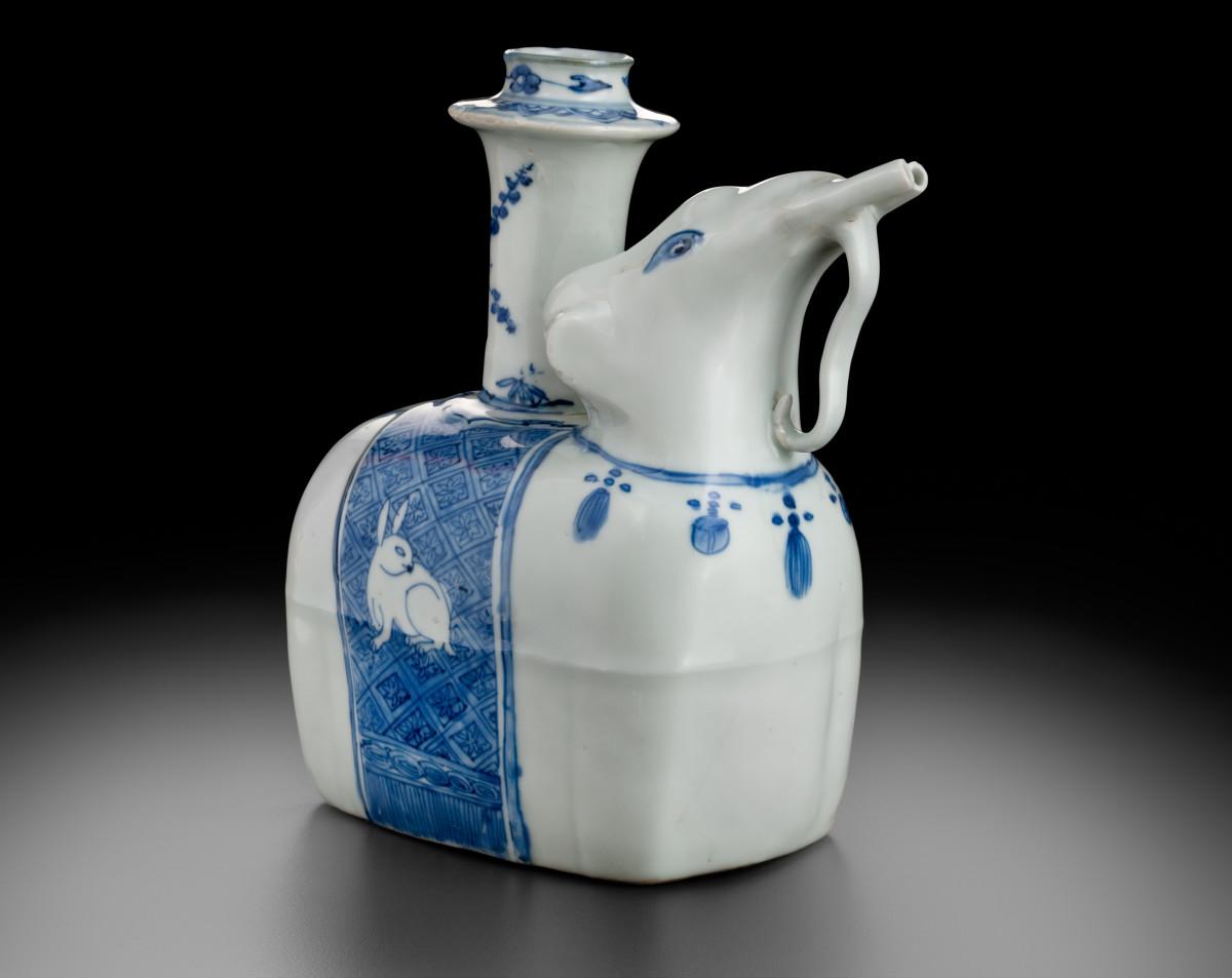 Elephant Pouring Vessel, Kendi, Jingdezhen, China, c. 1600.