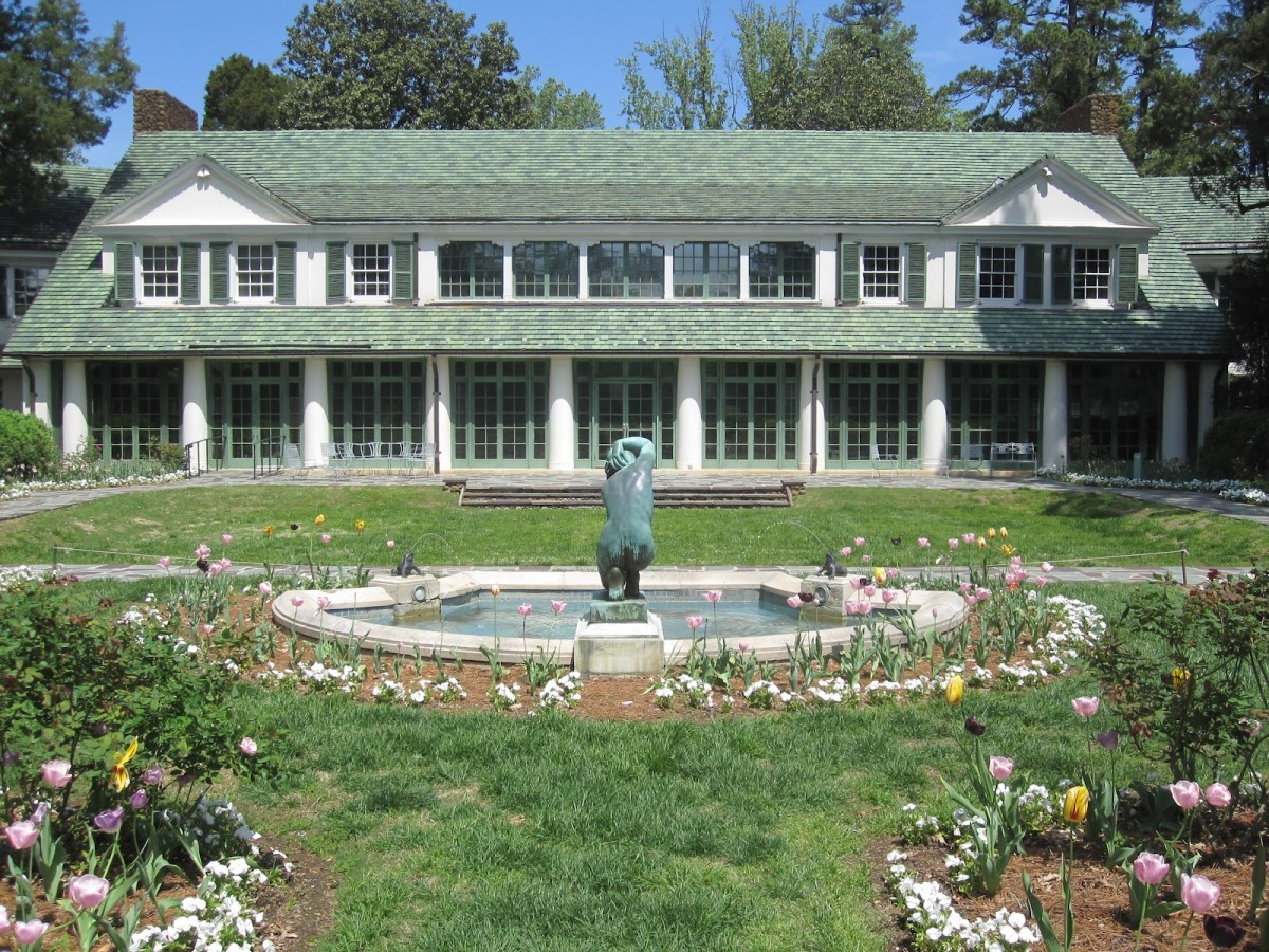 The green clay tile roof was the defining architectural feature of Reynolda.
