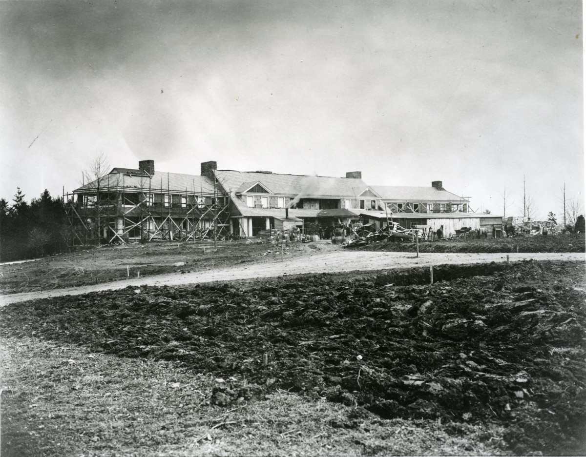 Archival image of the Reynolda House.