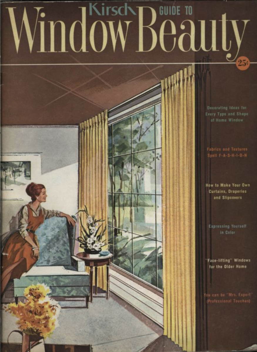 The Building Technology Heritage Library also includes catalogs for interior furnishings and equipment. Window curtains and shades are featured in this catalog from the Kirsch Company, a century old business started in 1907. Kirsch catalogs from the 1920s through the 1960s show the evolution of popular window blinds and curtains.