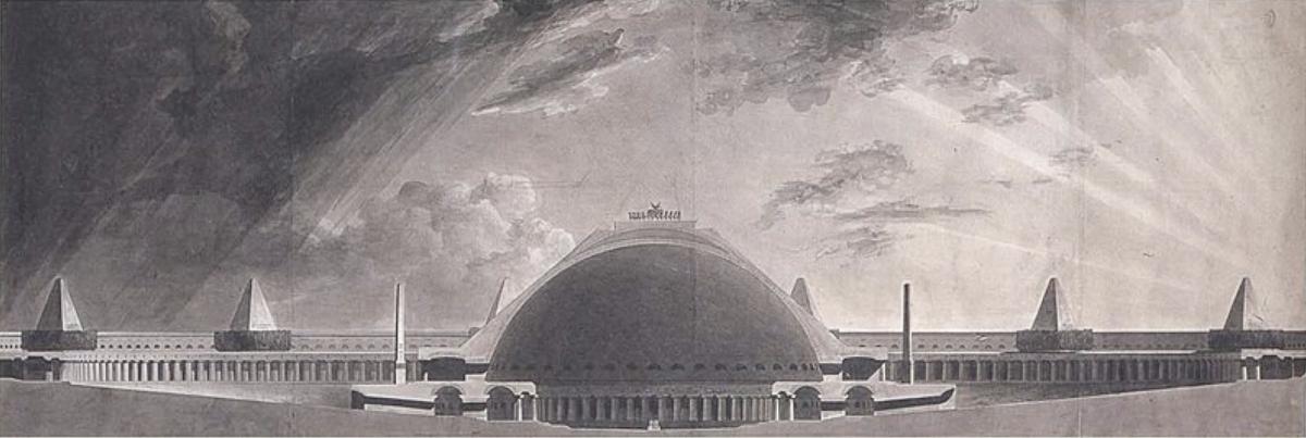 Pierre-Francois-Léonard Fontaine, Prix de Rome project 1783.