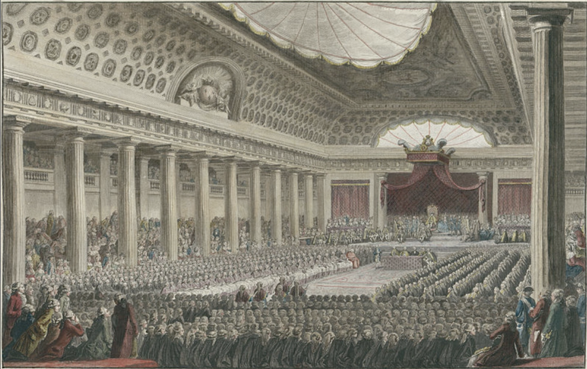 Opening of the Estates General in the Salle des Menus-Plaisirs du Roi, Versailles, 5 May 1789.
