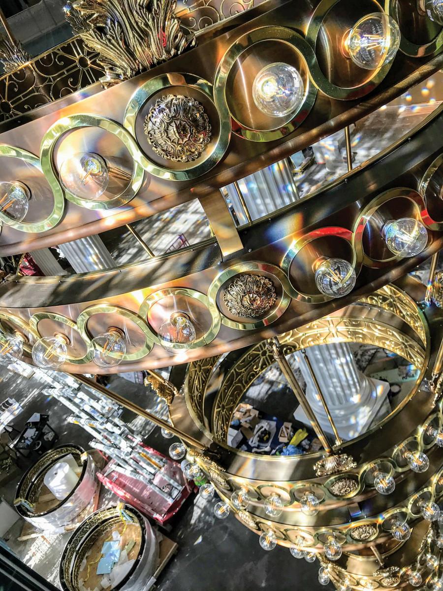 chandelier, Belmont University's new Performing Arts Center