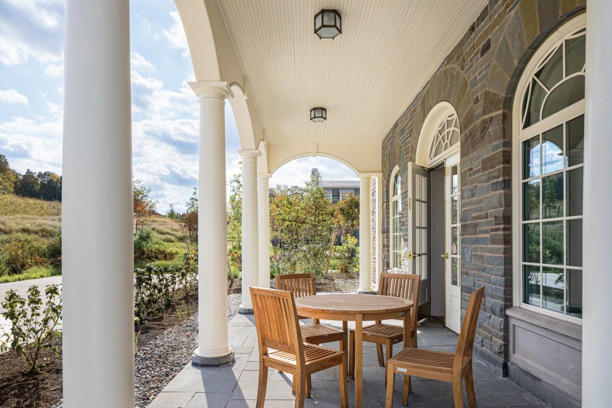 faculty apartment, porch, Colgate University