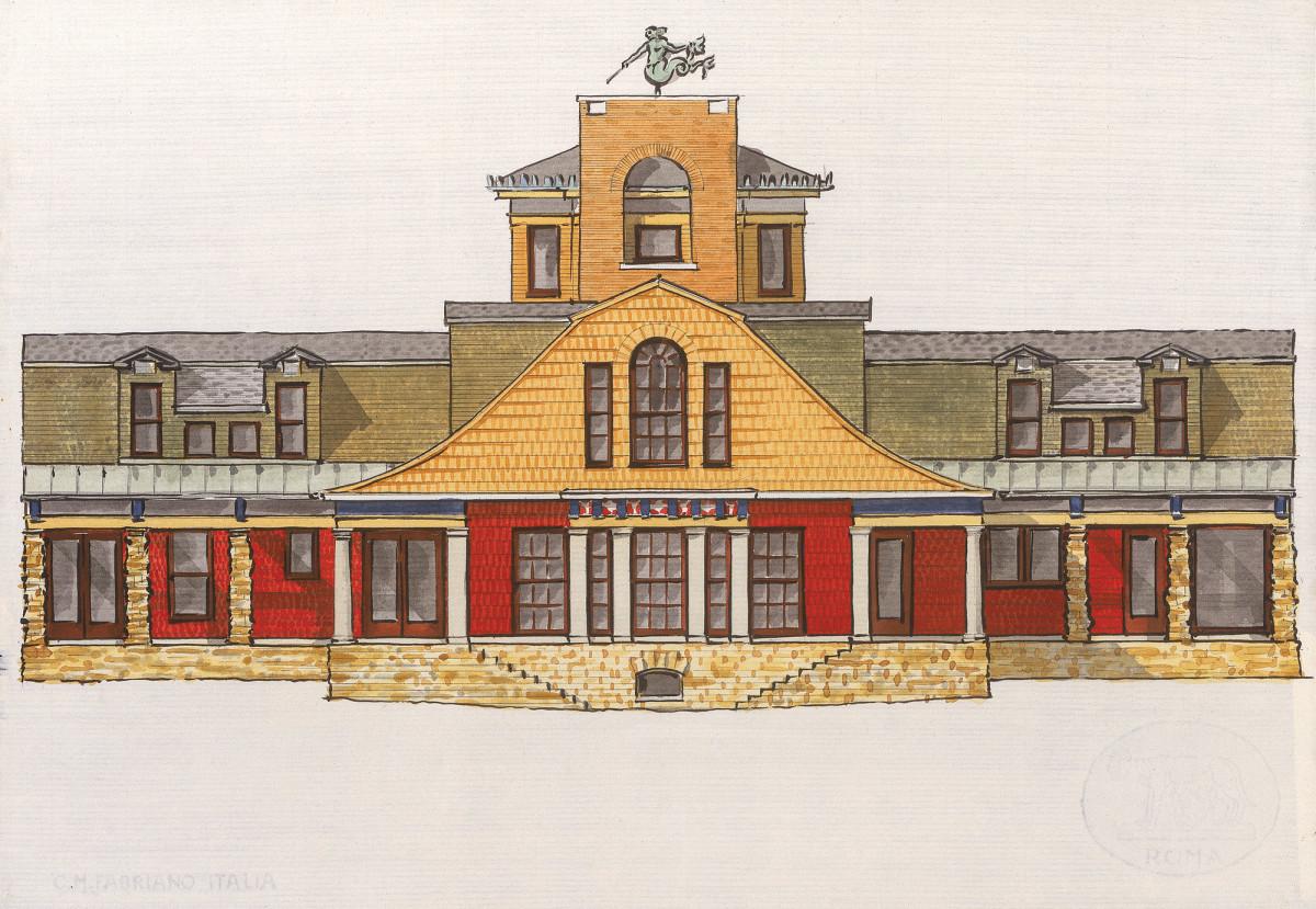 watercolor of House in Rural Wisconsin