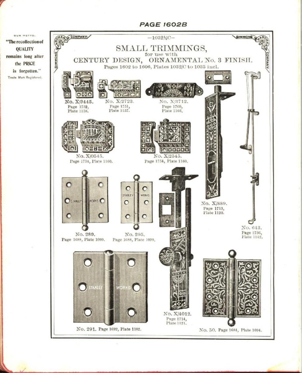 Builder's hardware: fine locks, artistic designs, in door and window trimmings, 1903