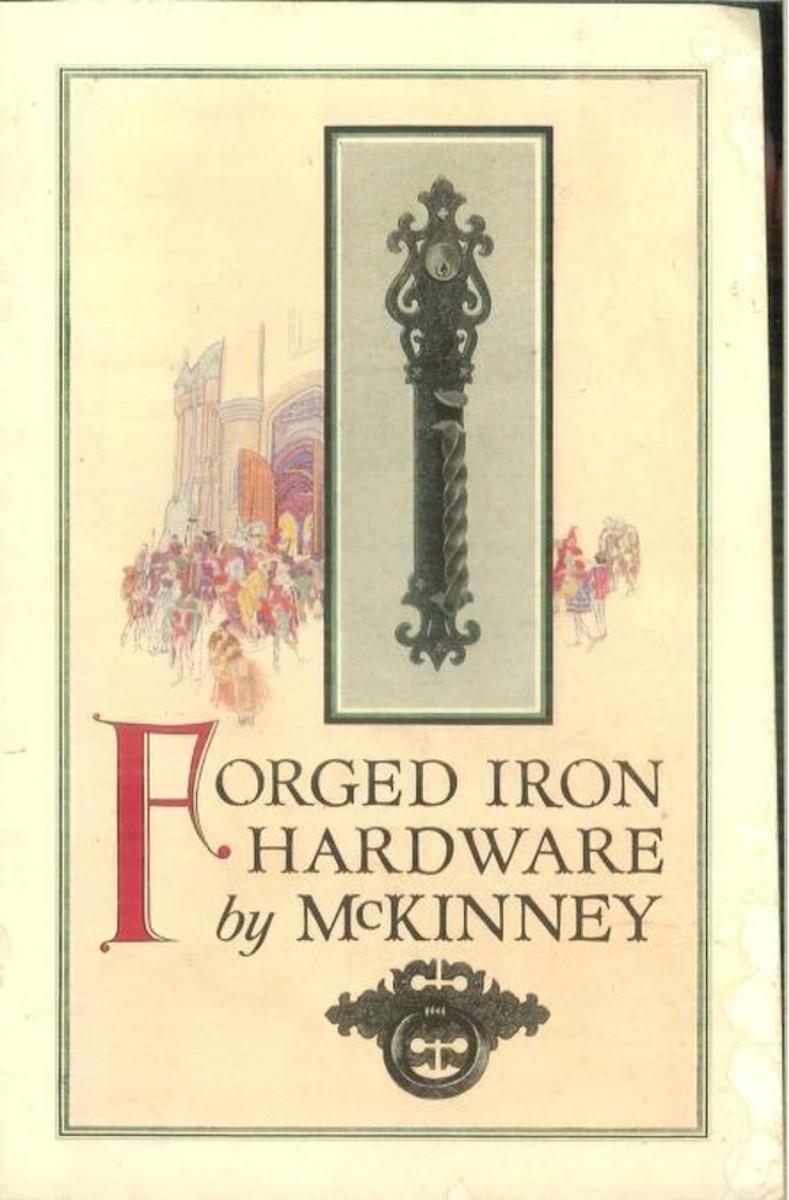 Forged iron hardware by McKinney, 1920.