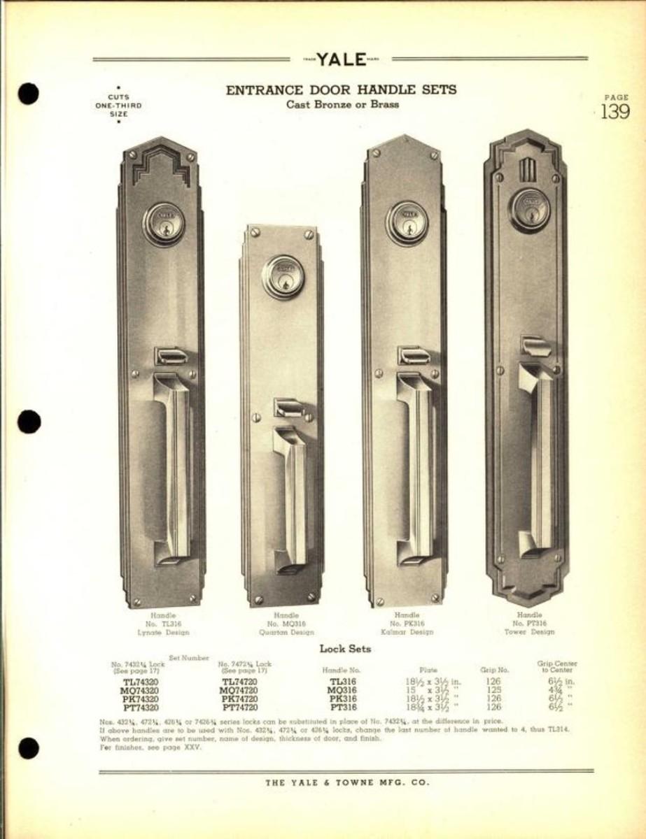 Yale catalog no. 29: builders' locks and hardware, door closers, 1937.
