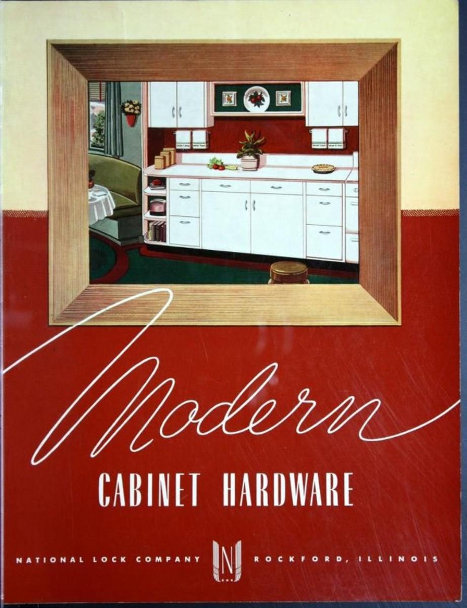 Modern Cabinet Hardware, c. 1945.